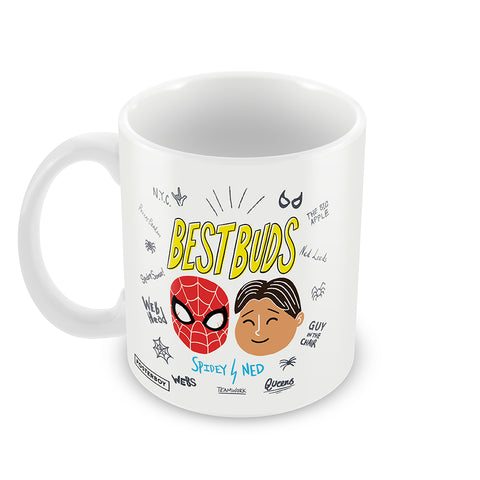 best buds spiderman and ned coffee mug for friends