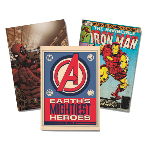 Marvel Notebook pack of 3 - posterboy