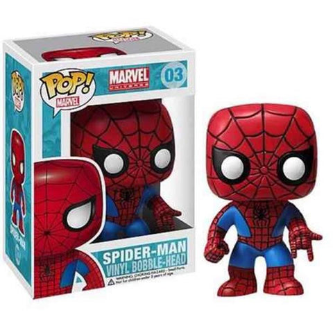POP Marvel : Spiderman Bobble Head - 3 3/4-Inch