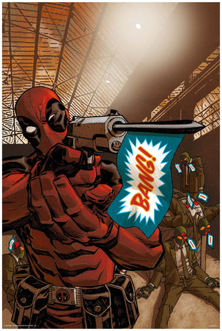 Bang- Deadpool Poster Online - posterboy