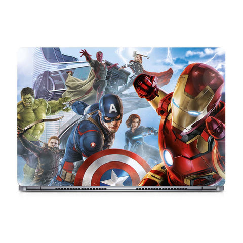 marvel avengers laptop skin 12 by 8 inches