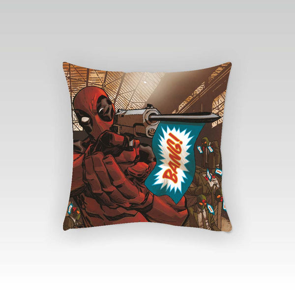Deadpool Bang Cushion Cover (Officially Licensed) - Posterboy