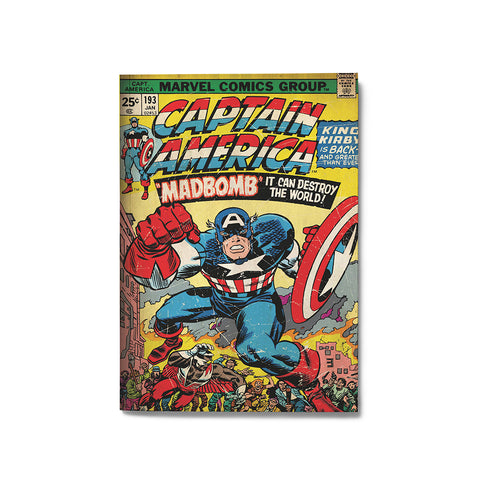 Captain America Marvel Comics Notebook - Posterboy