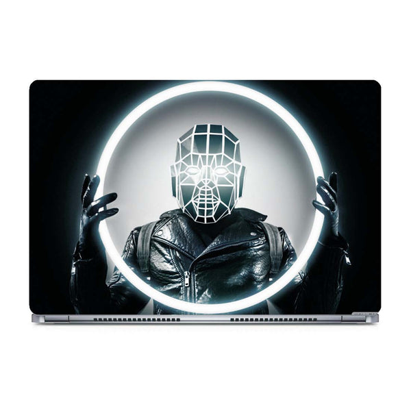 Man with Led Light Laptop Skin posterboy