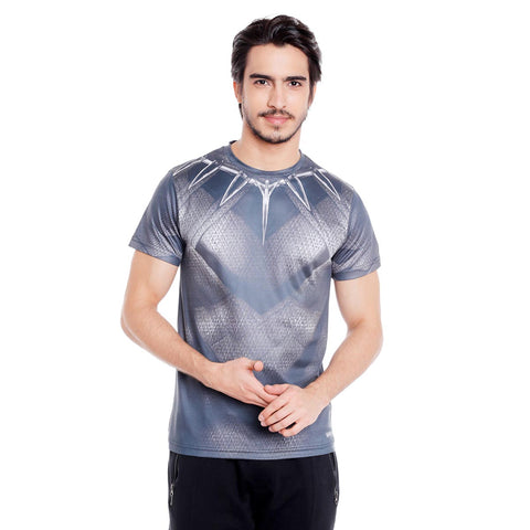 Black Panther Men's Active Wear Dry Fit T Shirt - Posterboy