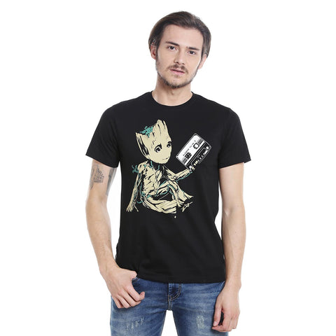 groot cassette vol 2 cotton t shirt by posterboy