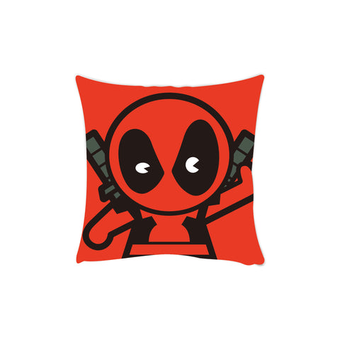 deadpool red cushion cover