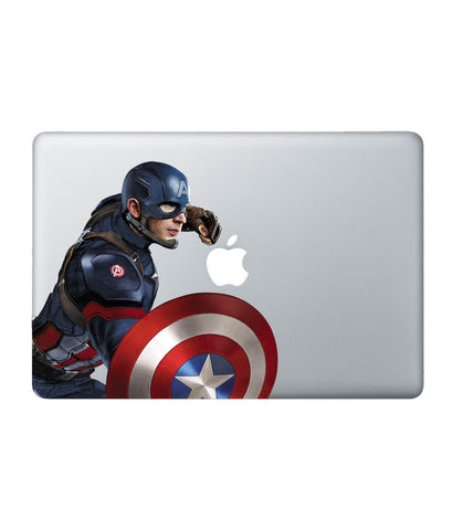 "Cap Am Punch - Decal for Macbook 13"" Retina - Posterboy"
