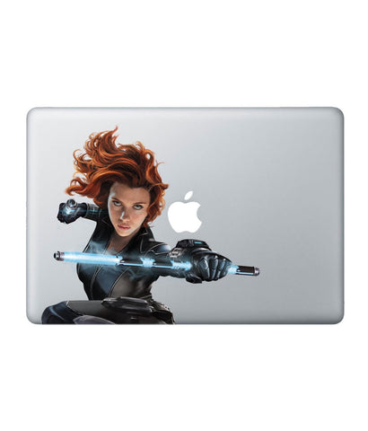 "Black Widow Attack - Decal for Macbook 15"" Retina - Posterboy"