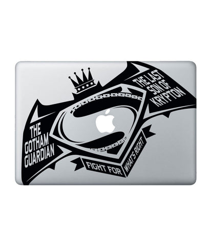 "Gotham vs Krypton - Decal for Macbook 15"" - Posterboy"