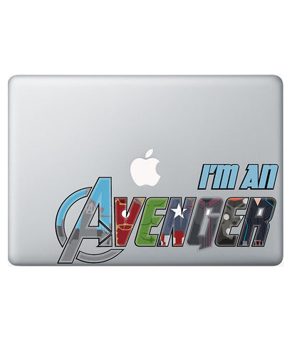 I am Avenger - Decal for Macbook 15""