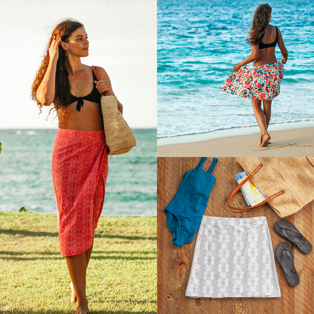e103d91460 The original water shedding, quick wrap, all sports cover-up that  multi-tasks as the ideal summer skirt.