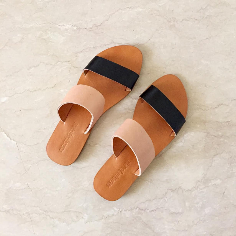 CHLOE Slides - Blush/ Black