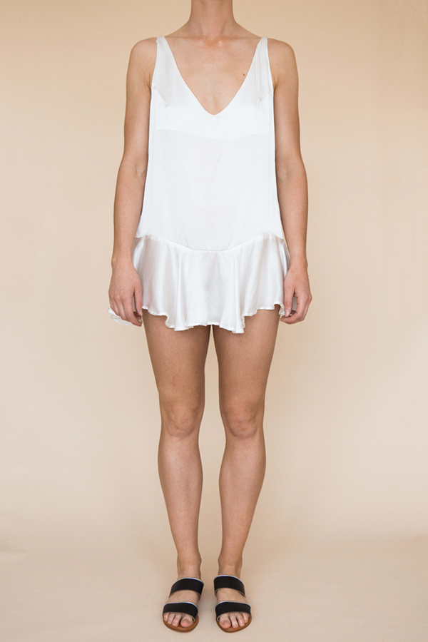 Flirty Mini Dress - White
