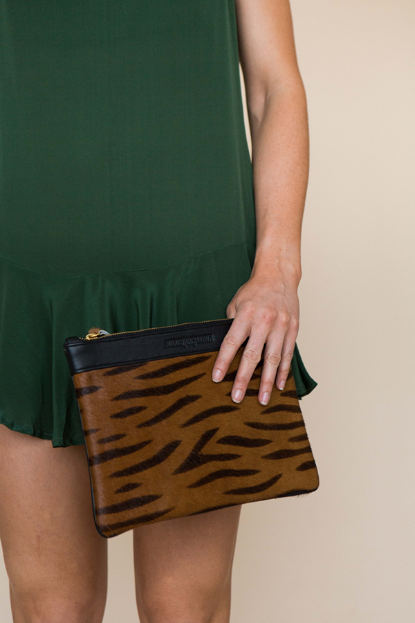 WHITTNEY CLUTCH - BLACK ZEBRA