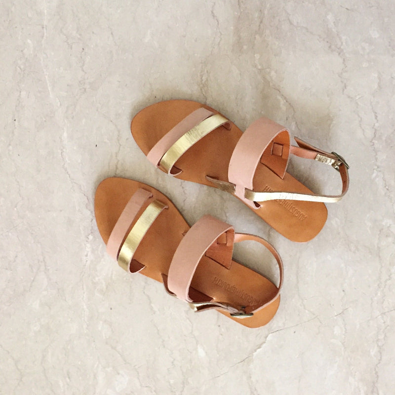 CAMILLA Sandals - Blush/ Gold