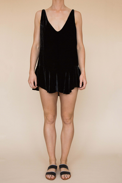 Flirty Mini Dress - Black Velvet