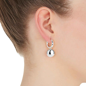 Najo - Silver Ball Charm earrings