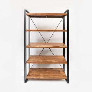 Solid Acacia Shelf Unit with metal frame