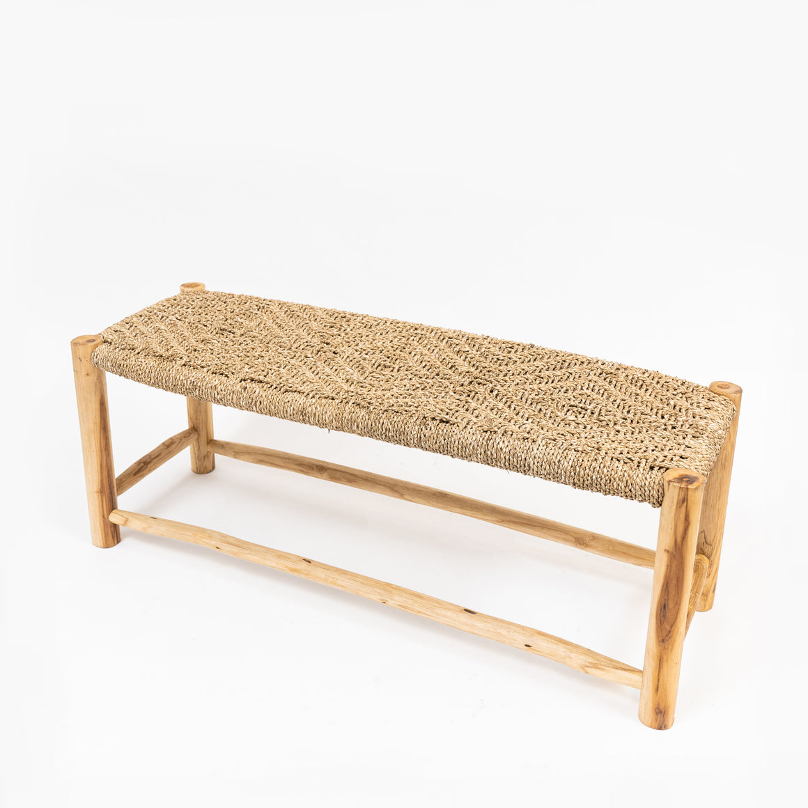 Handmade seagrass bench