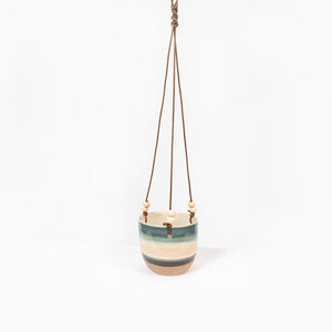 Planter Hanging Pink Blue Sml