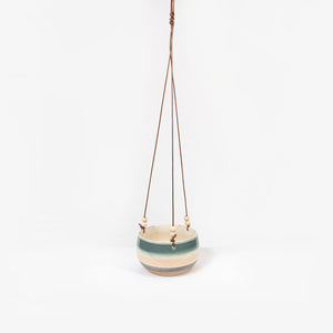Planter Hanging Pink Blue Med
