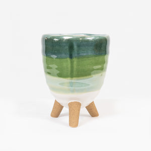Planter on Legs Green  Med