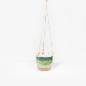 Planter Hanging Green Sml