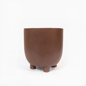 Planter Footed Lrg Rust