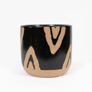 Planter Diamond Natural Black Small