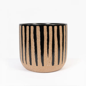 Planter Stripe natural black small