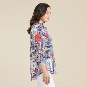 Gordon Smith - Leaf Navy Mix Shirt