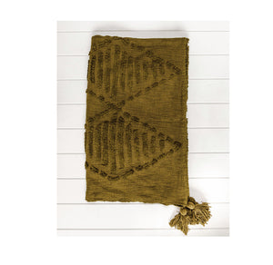 Throw Blanket - Anvi - Olive Green - 130x160