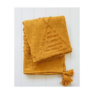 Throw Blanket - Clementine - Ochre - 130x160