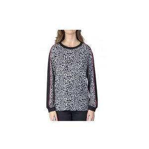 VASSALLI Jersey long sleeve animal print