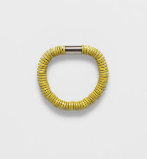 Elk rope disc stretch bracelet. Ceylon