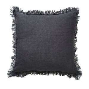 Monaco fringe cushion charcoal