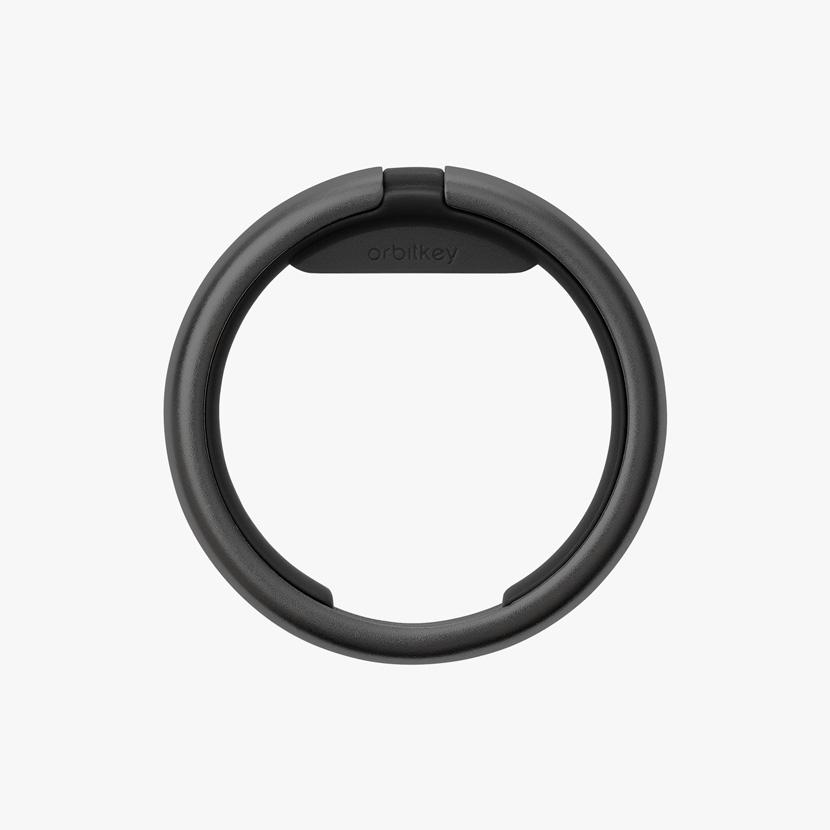 Orbit Key Ring Charcoal