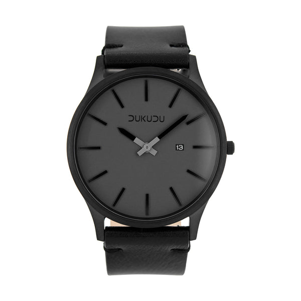 Dukudu Watch. Ivar. Black steel case