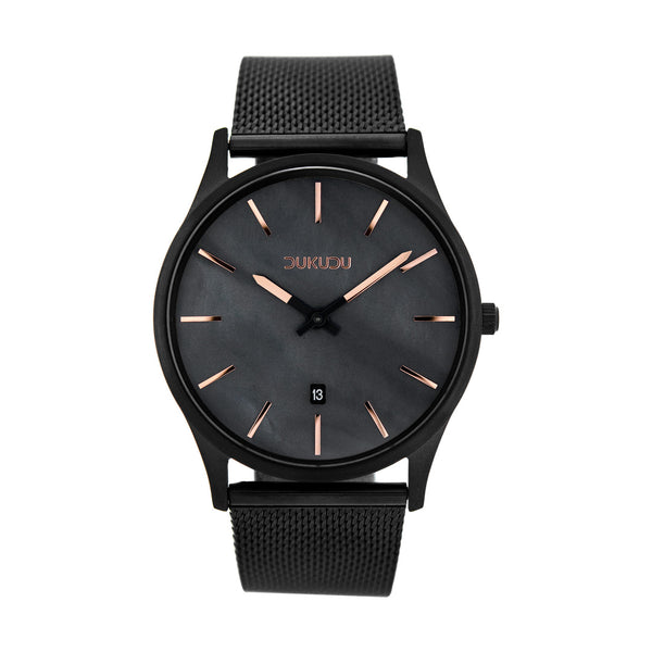 Dukudu Watch. Dagmar. Black steel case