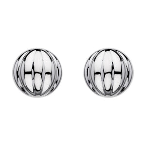 Earrings Domed Ridged Stud