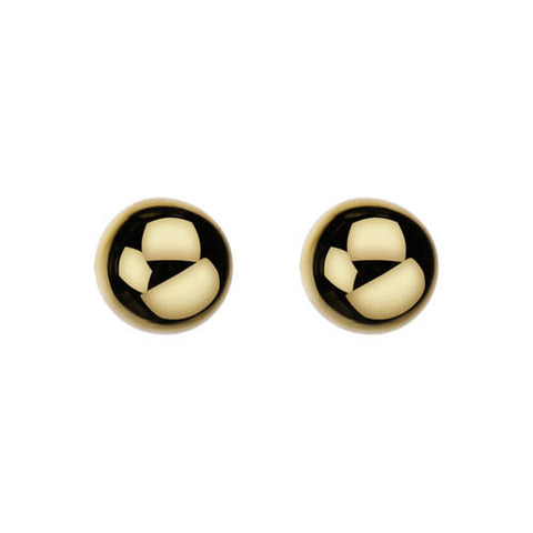 Sterling silver & yellow gold plate earring with 8mm ball