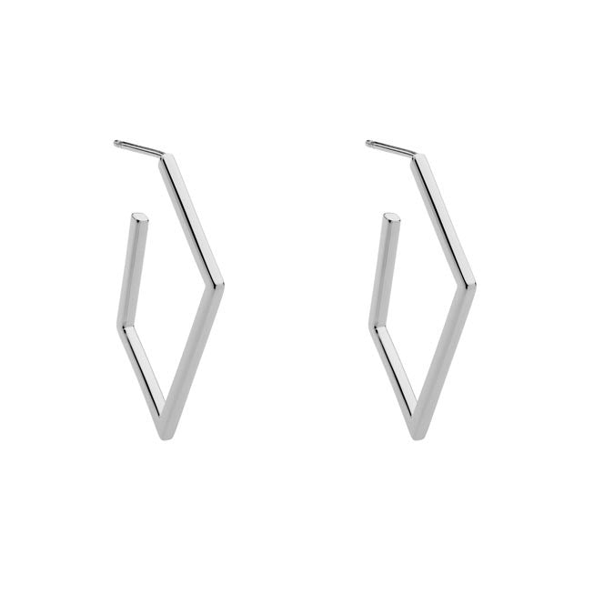 Earring Geometric Sterling Silver Hoop