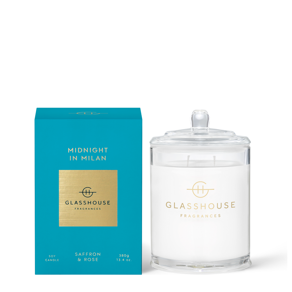 GLASSHOUSE -380G Candle Midnight in Milan