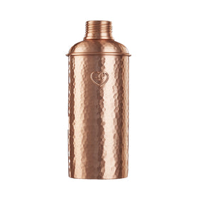Copper Polished Hammered Water Bottle 625