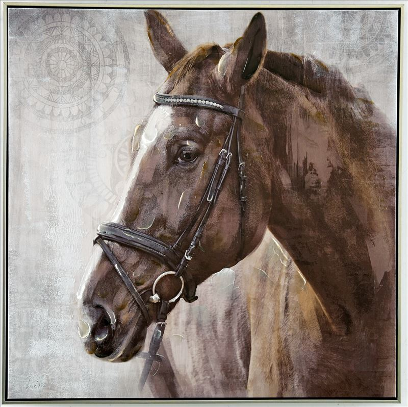 Canvas Harriet Horse 100x100