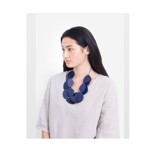 Necklace Kamile Navy Matte