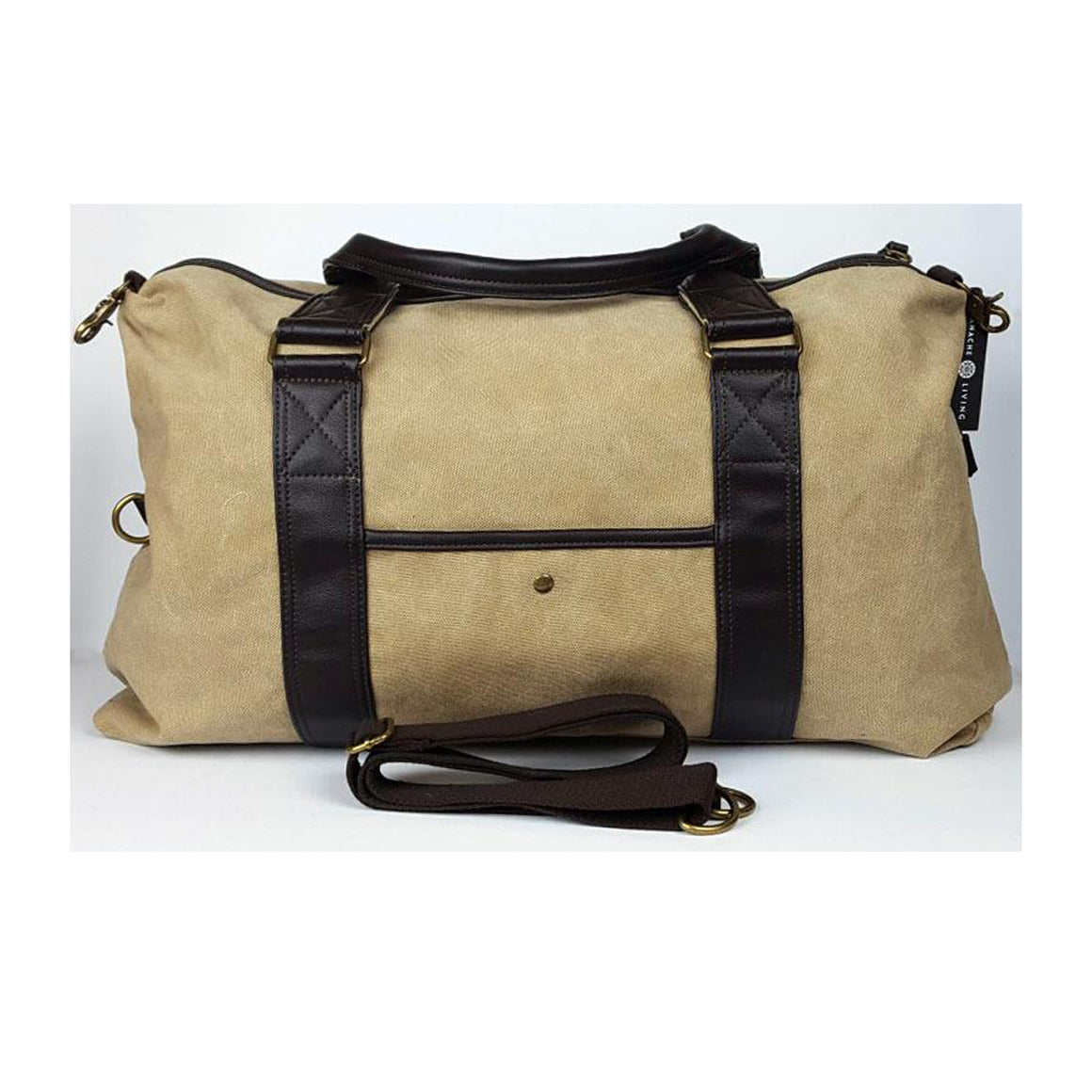 Travel Bag Canvas/Leather Khaki