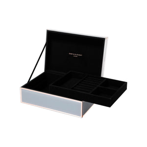 Florence large Grey/Rose Gold jewellery box