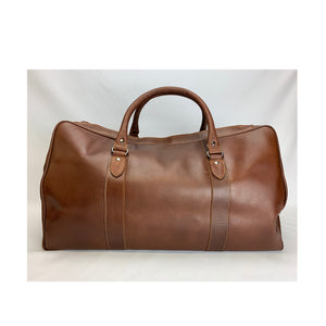 Leather travel bag in natural